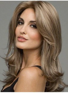 Long Loyered Wavy Synthetic Hair Capless Women Wig