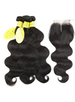 Wigsbuy Human Hair Body Wave Bundles With Closure