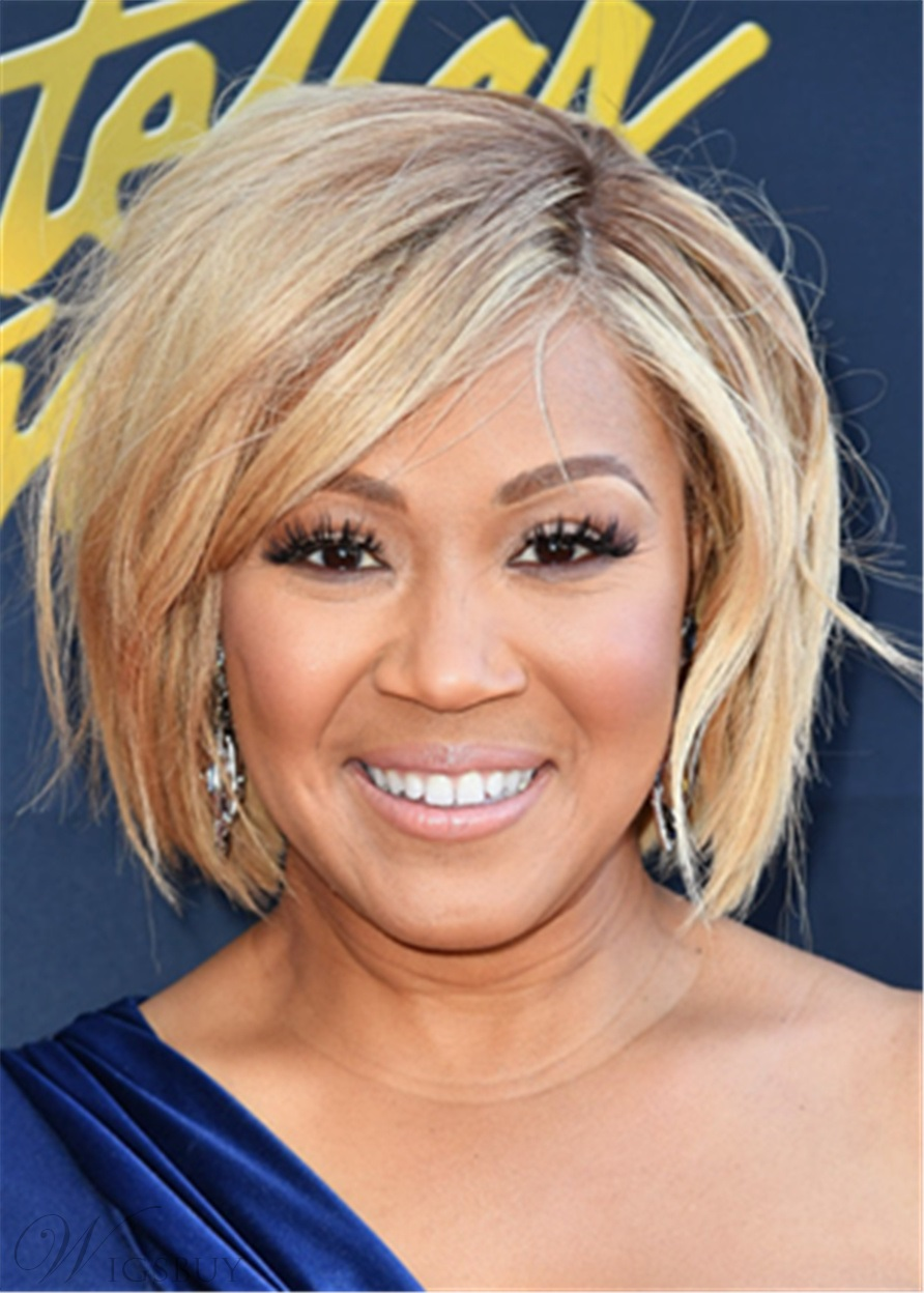 Erica Campbell Hair Cut Synthetic Straight Hair Capless Wig