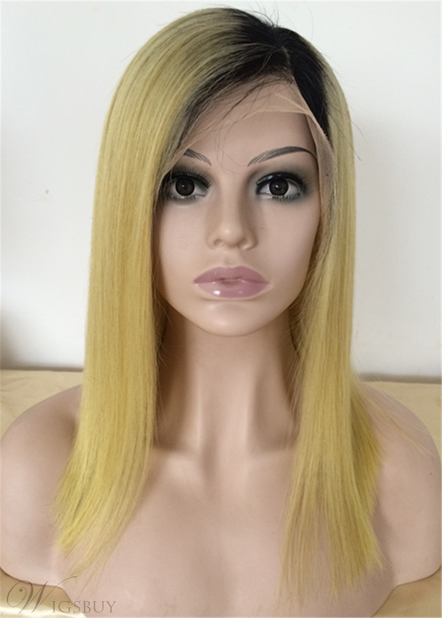 Lonng Straight Human Hair Lace Front Wig 20 Inches