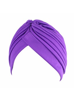 Pleated Stretch Fabric Muslim Turban