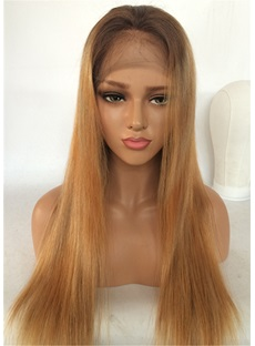 Long Straight Human Hair Lace Front Wig