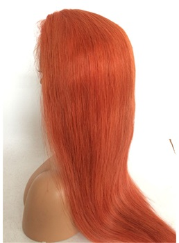 Long Straight Human Hair Lace Front Wig 26 Inches