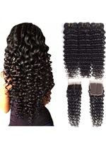 Wigsbuy Human Hair Curly Bundles With Closure