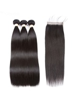 Wigsbuy Human Straight Hair Bundles With Closure