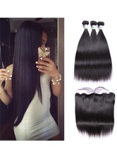 Wigsbuy Human Straight Hair Bundles With Frontal