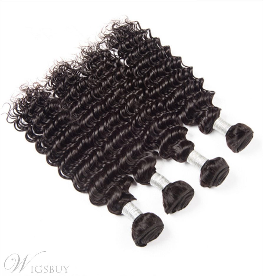 Wigsbuy Brazilian Virgin Curly Human Hair 4 Bundles