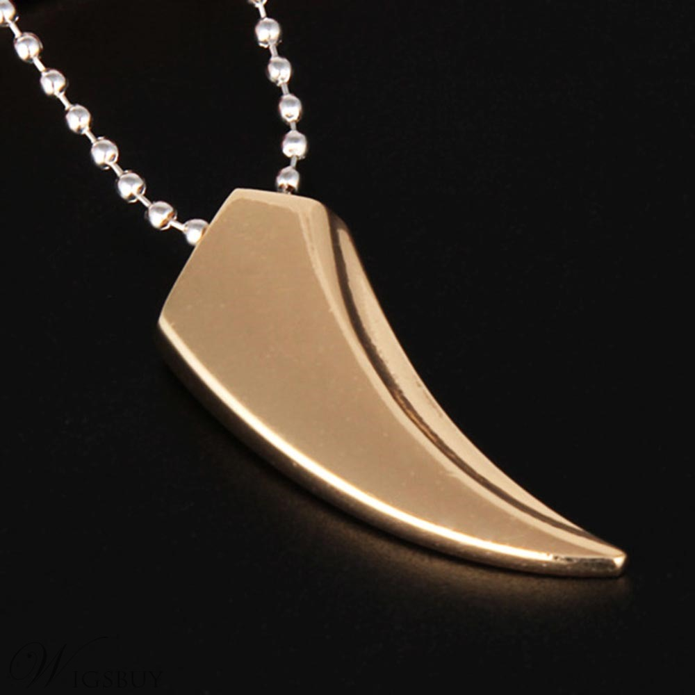 Crescent Alloy Men Necklace