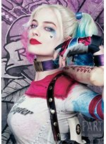 Harley Quinn Hairstyle Cosplay Wigs Synthetic Hair Capless Wig 20 Inches