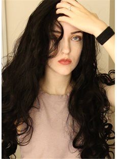 Long Wavy Free Parting Synthetic Hair Lace Front Wig 24 Inches