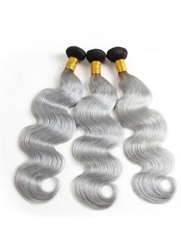 wigsbuy body wave huaman hair weave 1b /グレーヘアエクステンション