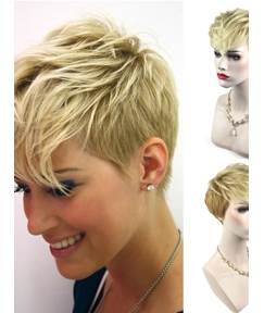 Boy Cut Pixie Straight Synthetic Hair Women Wig