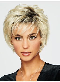 Short Choppy Layered Synthetic Hair Capless Wig