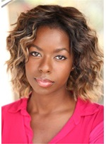 Camille Winbush Hairstyle Wavy Human Hair Capless Wig