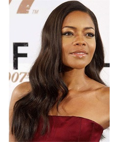 Naomie Harris Long Hair Type Human Hair Capless Wig