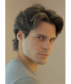 Middle Part Wavy Hairstyle Full Lace Men Wig