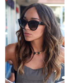 Ashley Madekwe Hairstyle Way Human Hair Capless Wig