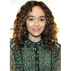 Ashley Madekwe Curly Synthetic Hair Lace Front Wig