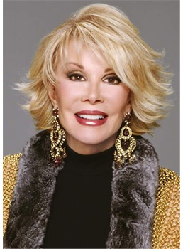 Joan Rivers Hair Cut Wavy Synthetic Hair Wig