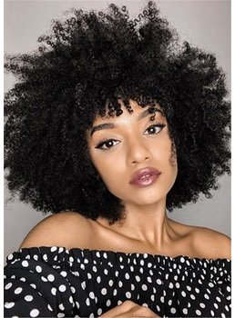 Afro Curly Synthetic Hair Capless Women Wig