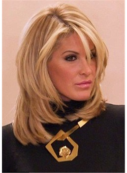 Shoulder Length Synthetic Wavy Capless Women Wig