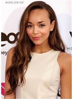 Ashley Madekwe One Side Parted Synthetic Hair Lace Front Wig