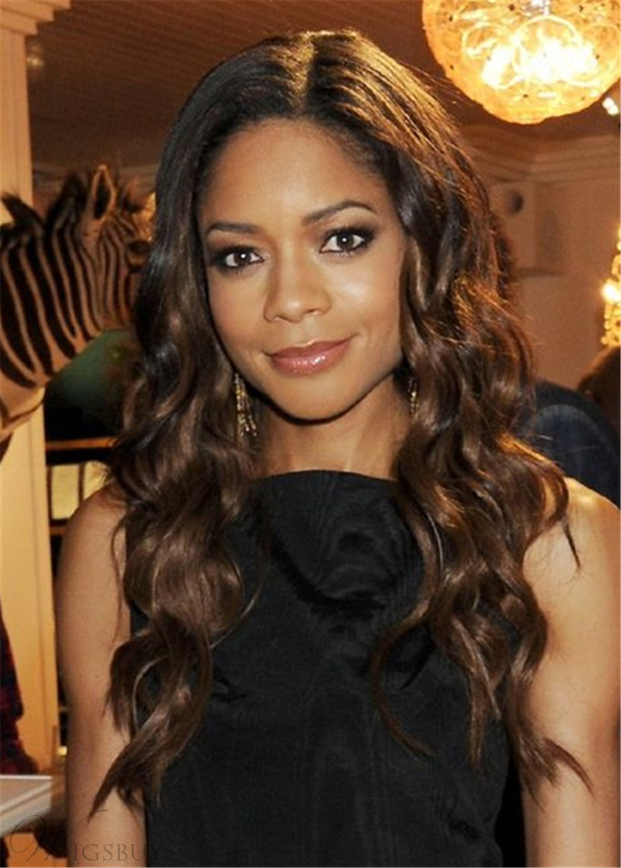 Naomie Harris Synthetic Hair capless wig