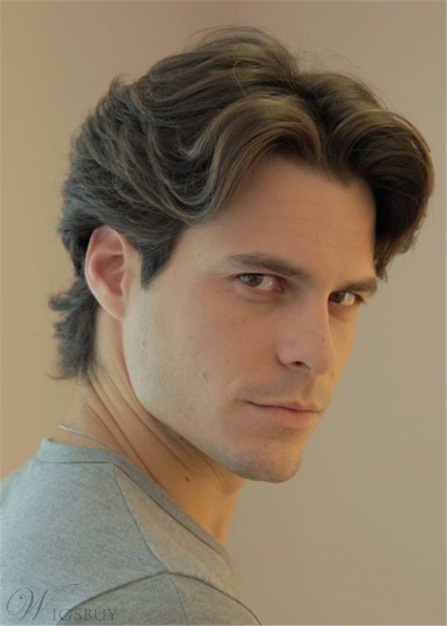 middle part wavy hairstyle full lace men wig: m.wigsbuy