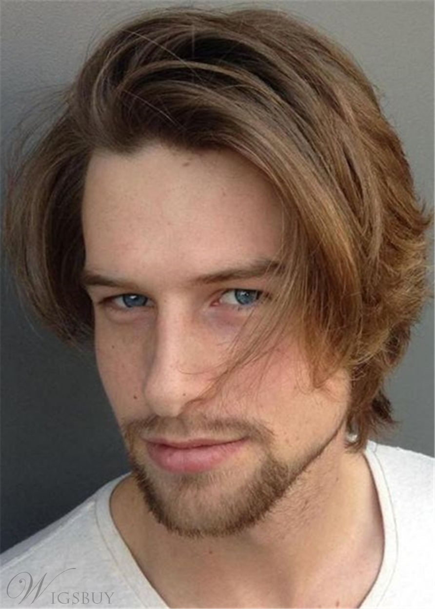 Side Part Wavy Hairstyle Full Lace Men Wig