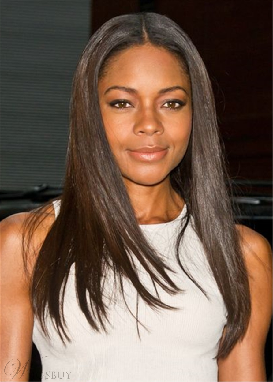 Naomie Harris Synthetic Natural Straight Hair Lace Front Wig
