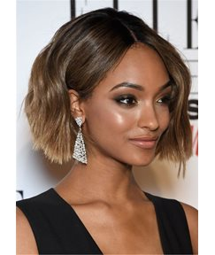Bob Cut Hairstyle Synthetic Wavy Hair Capless For African American