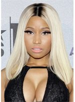 Nicki Minaj Mid Length Bob Cut Straight Synthetic Hair Capless Wig