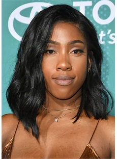 Sevyn Streeter Hairtsyle Synthetic Wavy Hair Lace Front Wig
