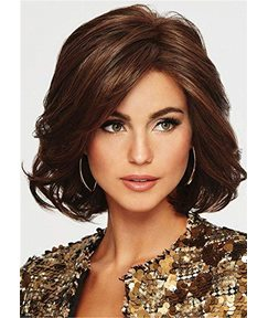Mid Length Bob Type Synthetic Hair Capless Wig