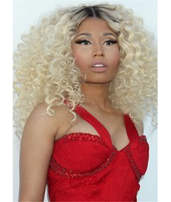 Nicki Minaj Mid Length Cut Curly Synthetic Hair Capless Wig