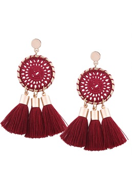 Ethnic Tassel Handmade Braid Earrings