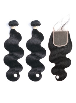 wigsbuy body-wave human-hair due bundle con una chiusura