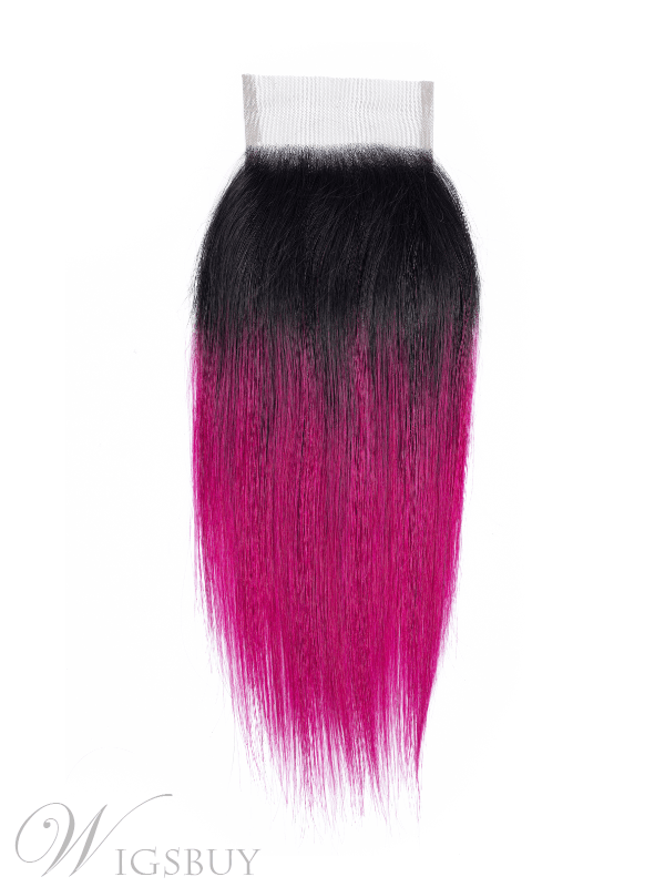 Wigsbuy Lace Closures Pre-colored Straight Human Hair Ombre