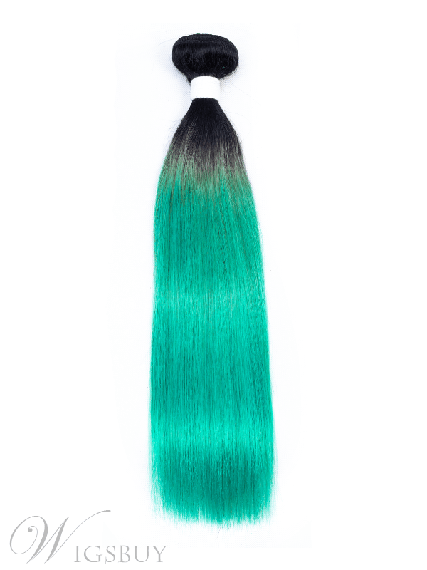 Wigsbuy Straight Human Hair Weave Ombre Color 1 Piece