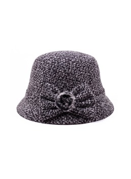 Bowknot Plush Women hat
