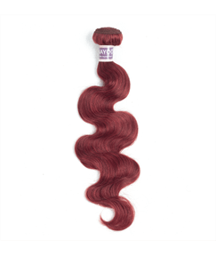 Wigsuby 33# Red Color Human Hair Body Wave Hair Weave