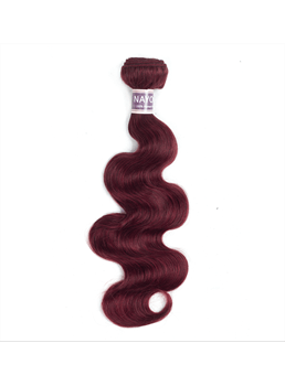 Wigbusy Red Wine 99J Body Wave Human Hair Bundle 10-24 Inches