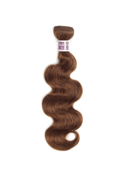 Wigsbuy Light Brown 4# Human Hair Body Wave Hair Bundle 10-24 Inches