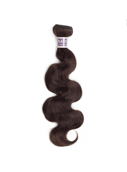 wigsbuy dark brwon 2#body wave人間の毛束10-24インチ