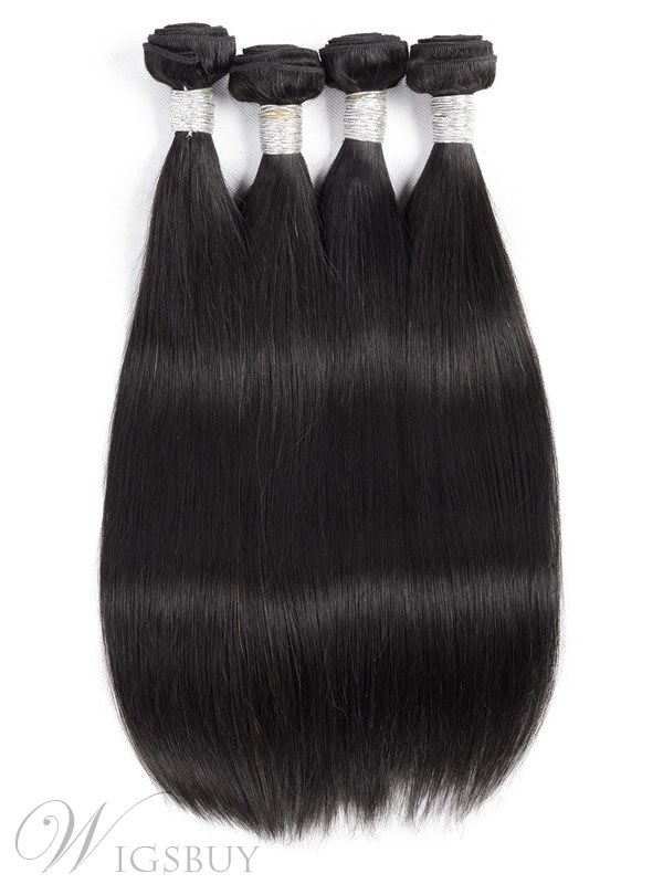 Wigsbuy Malaysian Hair Natural Straight Virgin Remy Hair 4 Bundles