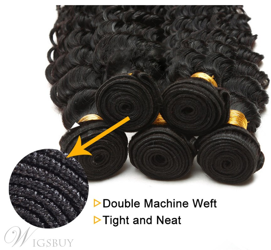 Wigsbuy Malaysian Curly Virgin Hair Weft 4 Bundles/Pack