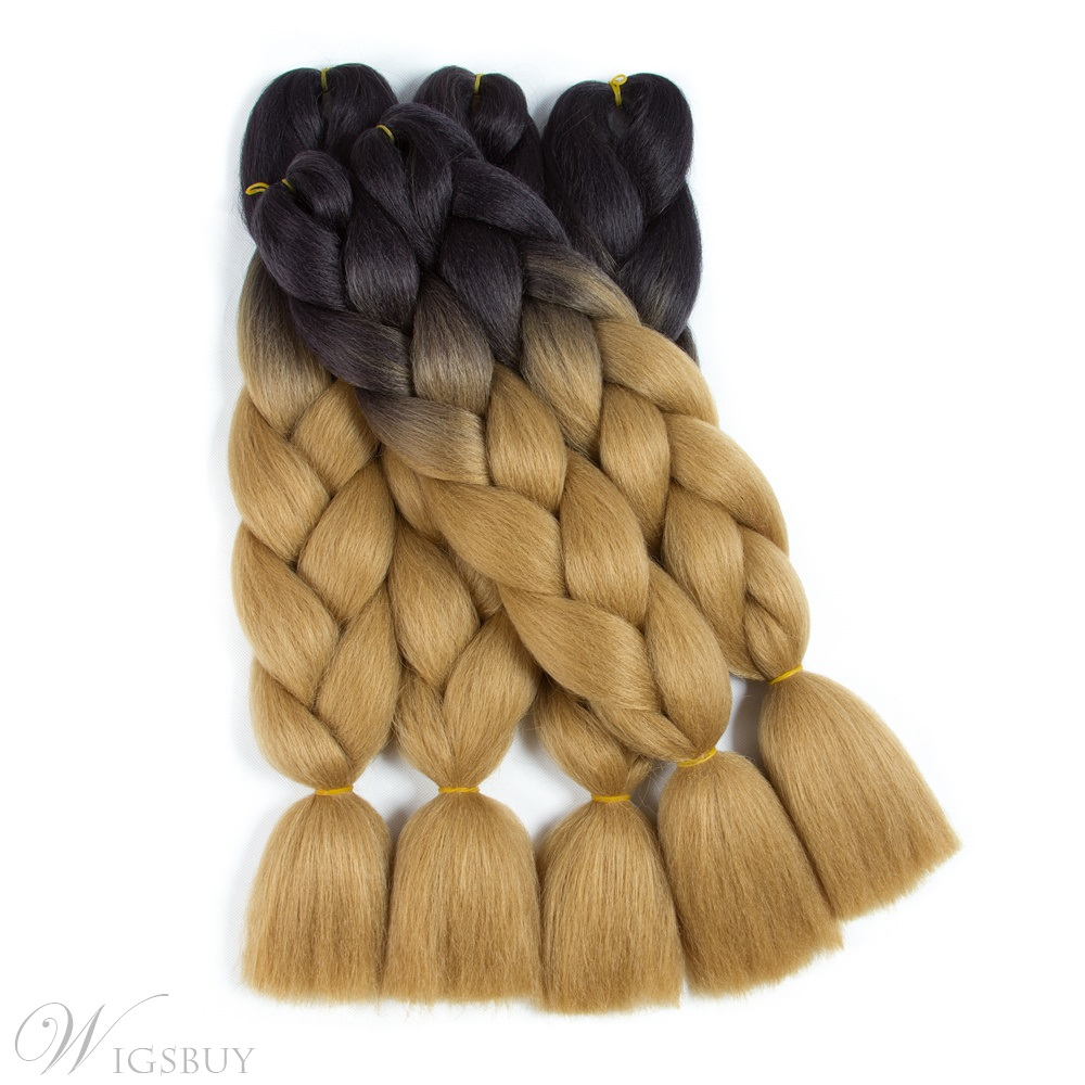 Ombre Synthetic Kanekalon Braiding Hair Crochet Braids False Hair Extensions