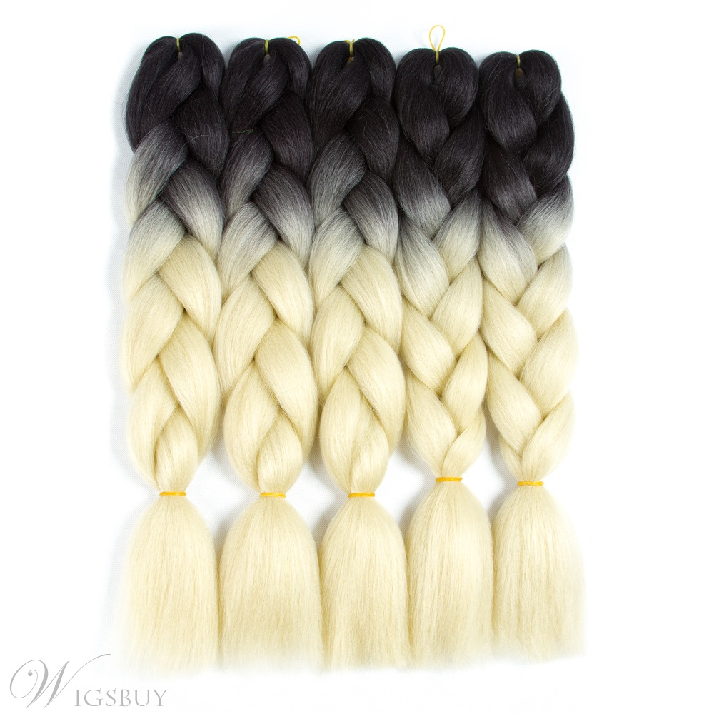 Colorful Jumbo Braiding Synthetic Hair 24 Inches 5 Bundles Lot