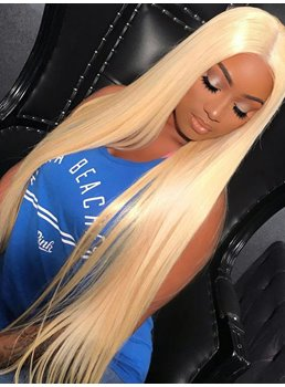 Long Middle Part #613 Straight Hair Lace Front Cap Women Wig