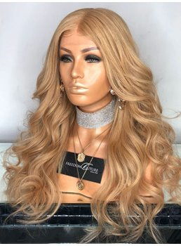 Long Out Layer Cut Wavy Hair Lace Front Cap Women Wig